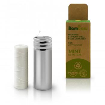 Silk mint interdental floss...