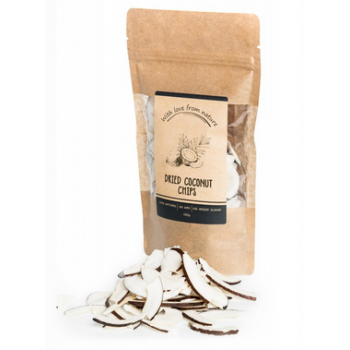 Dried coconut chips, With...