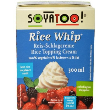 Rice whipped cream, 300 ml...