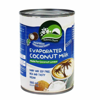 Evaporated coconut milk,...